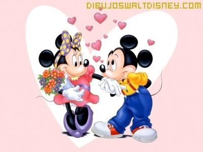 Mickey Y Minnie Enamorados Dibujos Disney