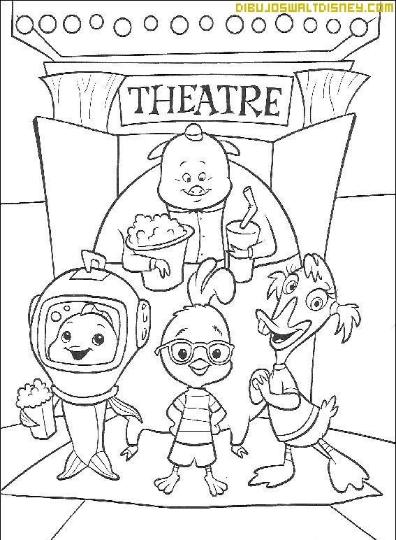 Chicken Little Va Al Teatro Con Sus Amigos Dibujos Disney