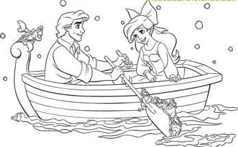 Dibujo Ariel y sus amigos para pintar