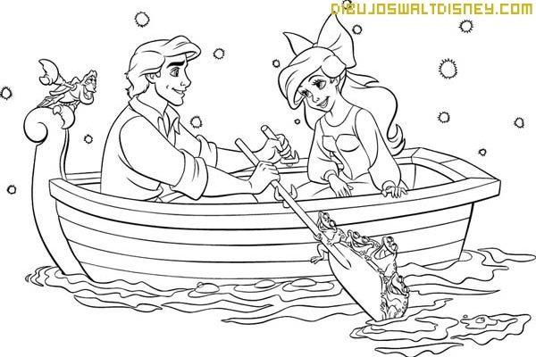 Ariel Y Sus Amigos Para Pintar Dibujos Disney