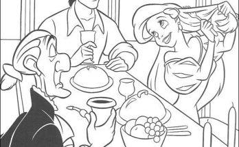 Dibujo Ariel se peina en la mesa