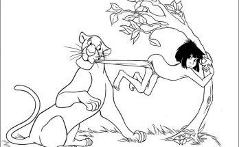 Dibujo Mowgli quiere regresar a la selva