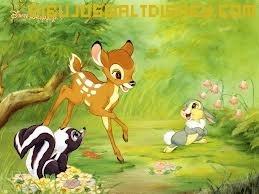 Dibujo Bambi y sus amigos