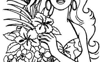 Dibujo Barbie primavera para colorear