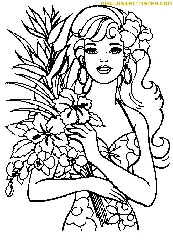 Barbie Primavera Para Colorear Dibujos Disney