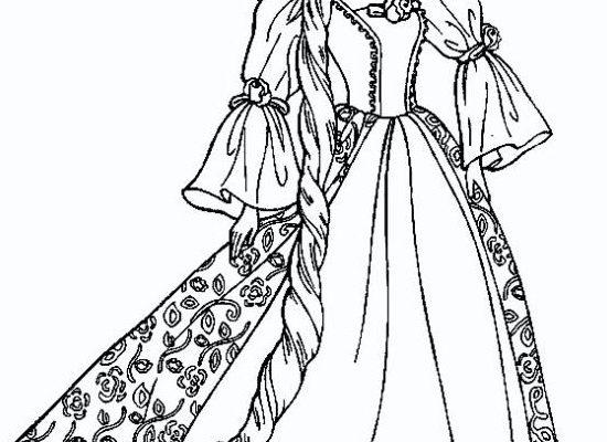 Dibujo Barbie vestida de reina
