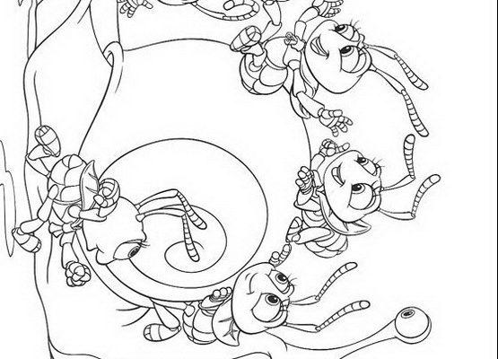 Dibujo Bichos con un caracol
