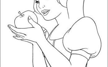 Dibujo Blancanieves y los animalillos del bosque