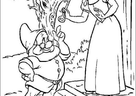Dibujo Blancanieves despide a Sabio