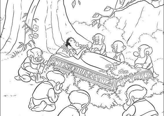 Dibujo Blancanieves ha sido envenenada