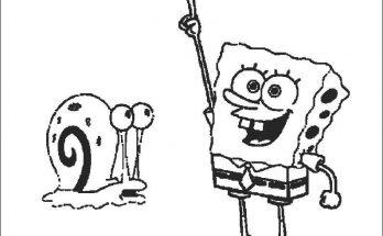 Dibujo Bob Esponja y Gary
