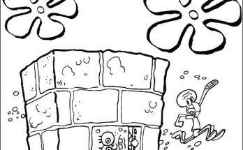 Dibujo Bob Esponja ha terminado en una pared