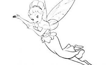 Dibujo Campanilla volando