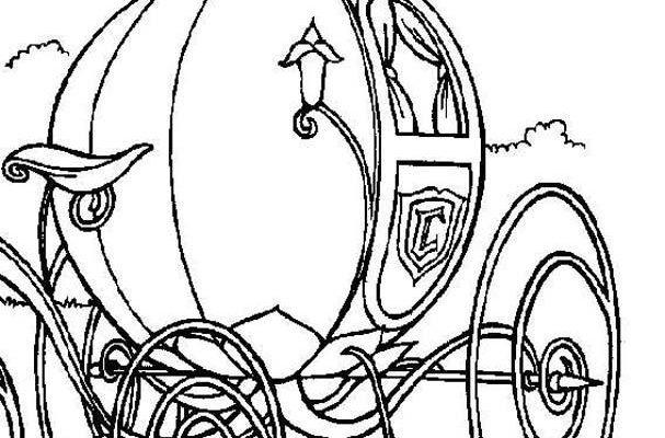 Dibujo La carroza de Cenicienta