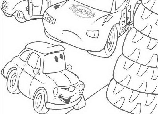 Dibujo Los amigos de Cars a toda marcha