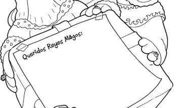 Dibujo Carta a los Reyes Magos