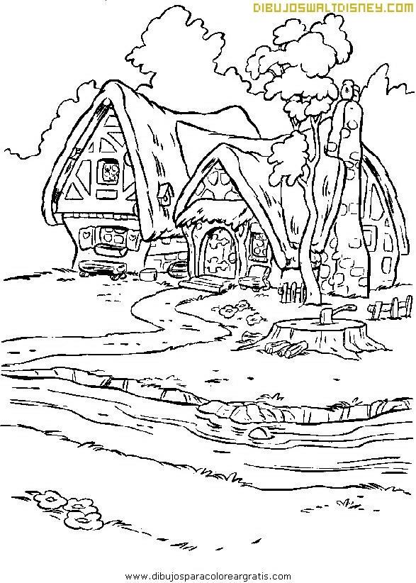 Las Casitas De Blancanieves Y Siete Enanitos Dibujos Disney