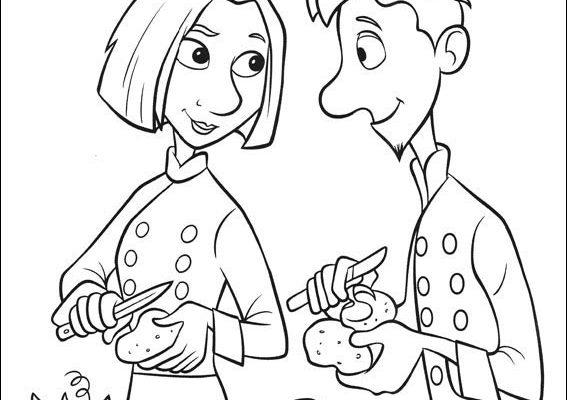 Dibujo Cocineros de Ratatouille