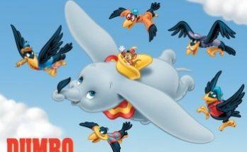 Dibujo Dumbo en un paseo por las nubes