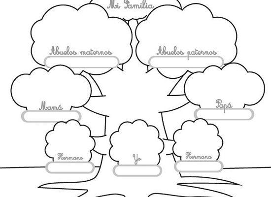 Dibujo Colorea y completa tu árbol genealógico