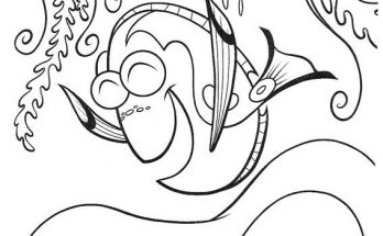 Dibujo Dory está contenta