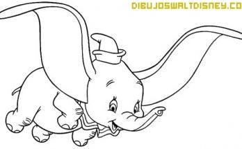 Dibujo Colorea a Dumbo