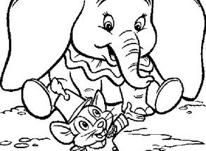 Dibujo Dumbo en el circo