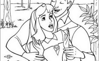 Dibujo El príncipe sorprende a Bella Durmiente