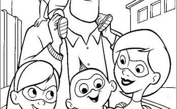 Dibujo Una familia de superhéroes