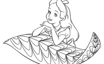 Dibujo La pequeña Alicia