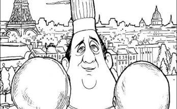 Dibujo El chef Gusteau