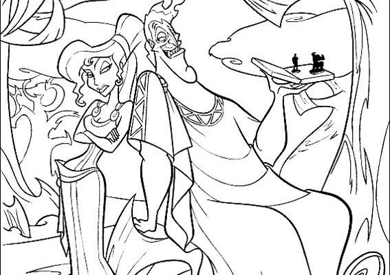 Dibujo Meg y Hades