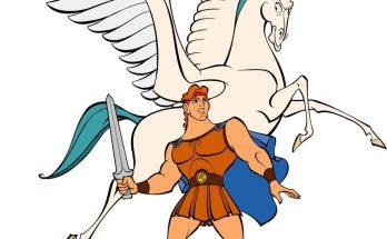 Dibujo Hércules y Pegaso