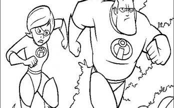 Dibujo Mr. Increíble y Elastigirl
