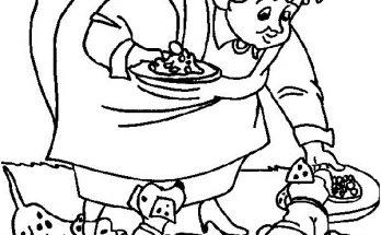Dibujo Hora de comer de pequeños Dalmatas