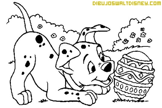 Dibujo Cachorro dálmata para pintar