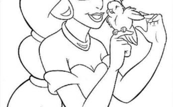 Dibujo La princesa Jasmine