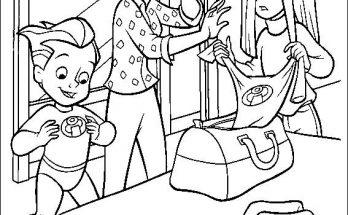 Dibujo Los niños descubren los trajes