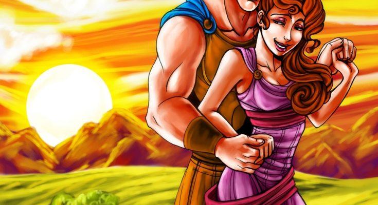 Dibujo Megara y Hércules