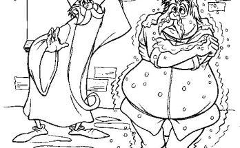 Dibujo Merlín deshaciendo un hechizo