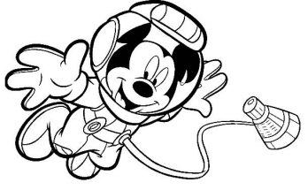 Dibujo Mickey astronauta
