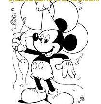 Dibujo Mickey de fiesta