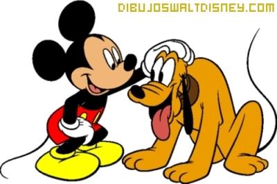 Dibujo Mickey y Pluto