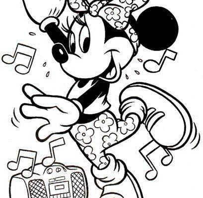 Dibujo Minnie baila