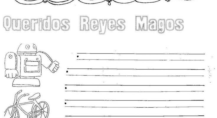 Dibujo Carta a los Reyes para colorear