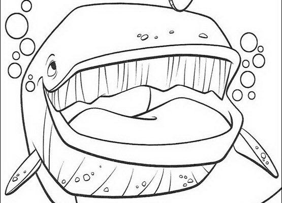 Dibujo Nemo y la ballena