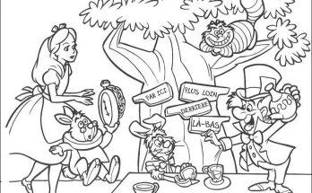 Dibujo Alicia y sus nuevos amigos