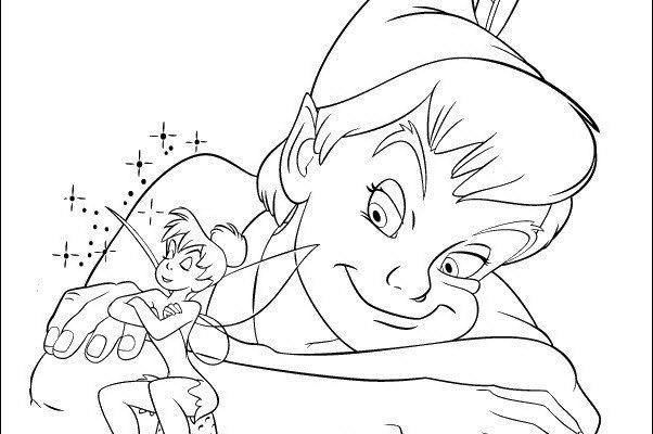 Dibujo Peter Pan observa a Campanilla