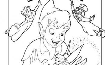 Dibujo Peter y Tinkerbell al rescate
