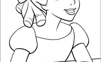 Dibujo Wendy sueña con Nunca Jamás
